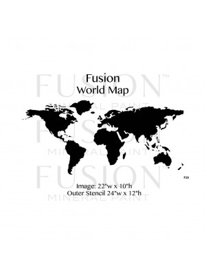 F28 Stencil World Map  cm. 60 x 29