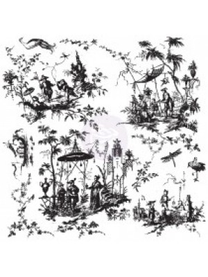 Timbro Toile Chinoiserie